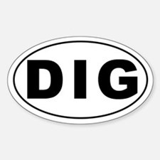 DIG Oval Decal