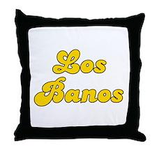 Retro Los Banos (Gold) Throw Pillow