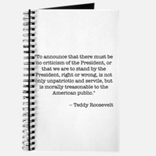T. Roosevelt quote - Journal