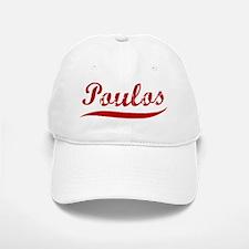 Poulos (red vintage) Baseball Baseball Cap