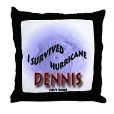 I Survived Hurricane Dennis Throw Pillow