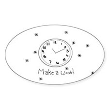 Make a wish! Oval Decal