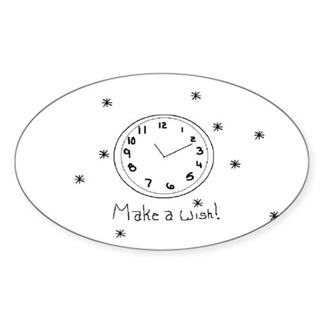 Make a wish! Oval Sticker