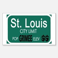 St. Louis -- T-SHIRTS Rectangle Decal
