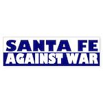 Santa Fe Against War (bumper sticker)