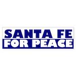 Santa Fe for Peace (bumper sticker)