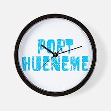 Port Hueneme Faded (Blue) Wall Clock