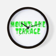 Mountlake Te.. Faded (Green) Wall Clock
