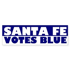 Santa Fe Votes Blue (bumper sticker)