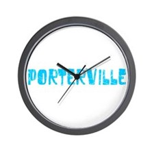 Porterville Faded (Blue) Wall Clock