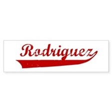 Rodriguez (red vintage) Bumper Bumper Sticker