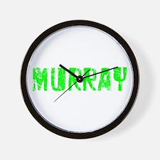 Murray Faded (Green) Wall Clock