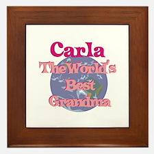 Carla - Best Grandma in the W Framed Tile