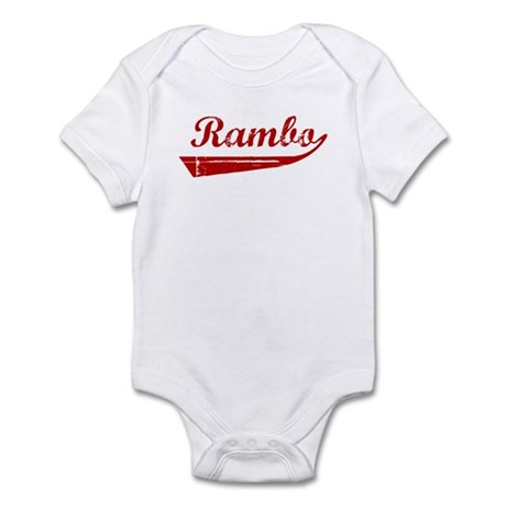 Rambo (red vintage) Infant Bodysuit
