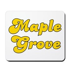 Retro Maple Grove (Gold) Mousepad