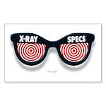 X-Ray Specs Rectangle Sticker