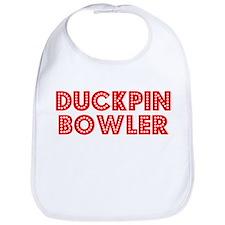 Retro Duckpin Bow.. (Red) Bib