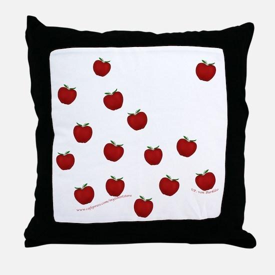 Cute Little Apples Throw Pillow