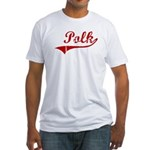 Polk (red vintage) Fitted T-Shirt