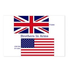 Cute British and american flag Postcards (Package of 8)