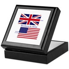 Cute Union jack usa flag Keepsake Box