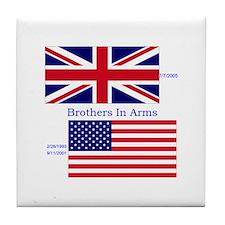 Cute British army Tile Coaster