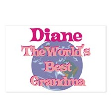 Diane - Best Grandma in the W Postcards (Package o
