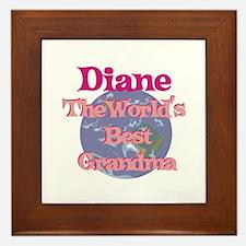 Diane - Best Grandma in the W Framed Tile
