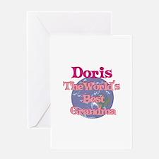 Doris - Best Grandma in the W Greeting Card