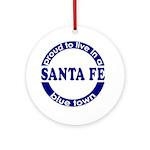 Santa Fe: Blue Town Keepsake (Round)