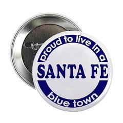 Santa Fe: Blue Town Button