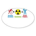 Super Powers Oval Sticker