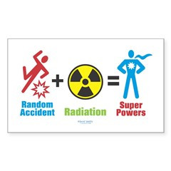 Super Powers Rectangle Sticker