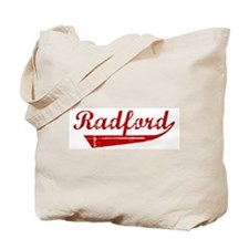 Radford (red vintage) Tote Bag