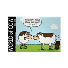 Cute Cow stik cartoon Rectangle Magnet
