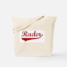 Rader (red vintage) Tote Bag