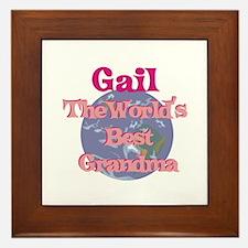 Gail - Best Grandma in the Wo Framed Tile
