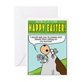 Cow easter Greeting Cards