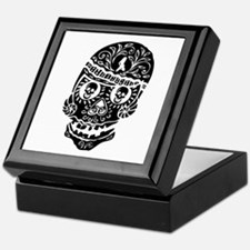 Mardi Gras Skull Keepsake Box
