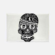 Mardi Gras Skull Rectangle Magnet (10 pack)