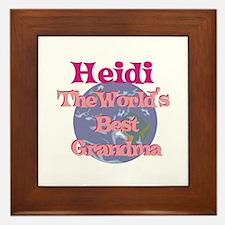 Heidi - Best Grandma in the W Framed Tile
