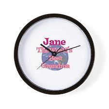 Jane - Best Grandma in the Wo Wall Clock