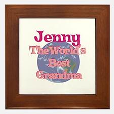 Jenny - Best Grandma in the W Framed Tile