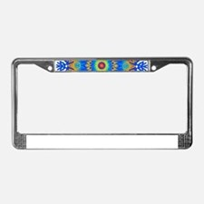 Decorative Pattern 1 DarkBlue License Plate Frame