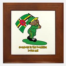Someone in Dominica loves me! Framed Tile
