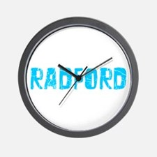 Radford Faded (Blue) Wall Clock