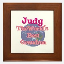 Judy - Best Grandma in the Wo Framed Tile
