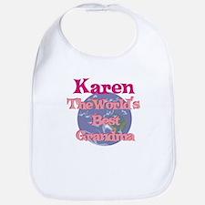 Karen - Best Grandma in the W Bib
