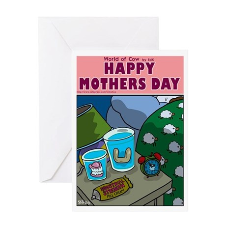 Mother Cows Dressing table Greeting Card