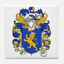 Darrell Family Crest Tile Coaster